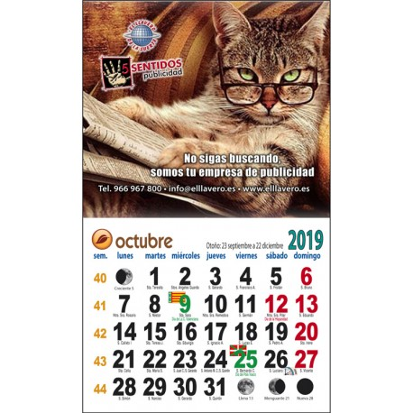 Calendario nevera imán completo