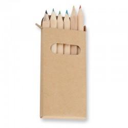 Cajita 6 lápices de colores