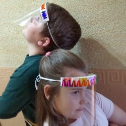 Visera protectora para niños