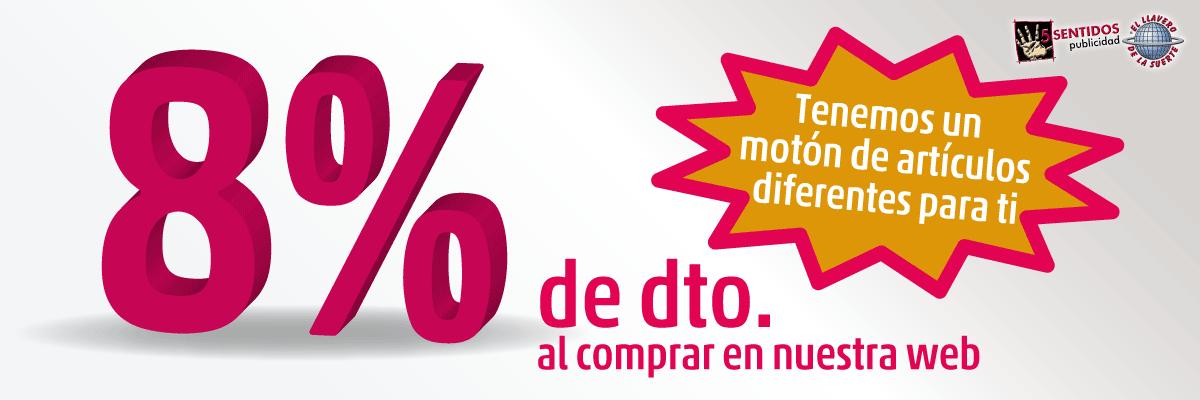Un 8% de descuento en tu compra