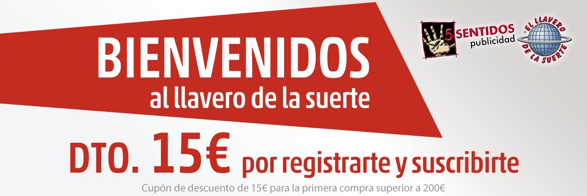 Descuento de 15€ de bienvenida a nuestra web
